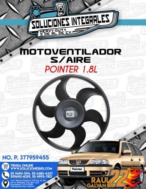 MOTOVENTILADOR SIN AIRE POINTER 1.8L