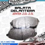 BALATA DELANTERA SENTRA 2.0L-2.5L