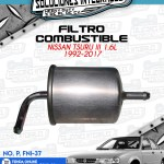 FILTRO COMBUSTIBLE TSURU III 1.6L 1992-2017