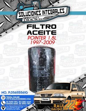 FILTRO ACEITE POINTER 1.8l 1997-2009