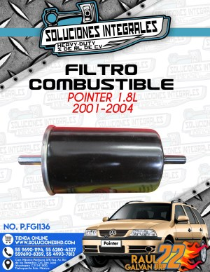 FILTRO COMBUSTIBLE POINTER 1.8l 2001-2004
