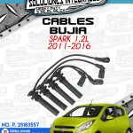 CABLES BUJÍA SPARK 1.2L 2011-2016