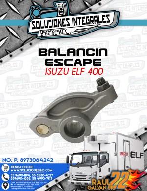 BALANCIN ESCAPE ISUZU ELF 400