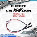 CHICOTE CAJA VELOCIDADES VERNA 1.5L 2004-2006