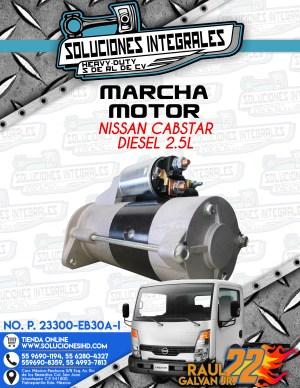 MARCHA MOTOR NISSAN CABSTAR 2.5L DIESEL