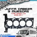 JUNTA CABEZA 3 MUESCAS FORD TRANSIT 2.2L 2006-2011