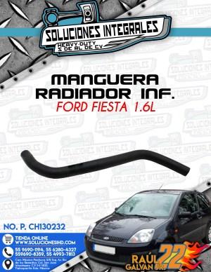 MANGUERA RADIADOR INFERIOR FORD FIESTA 1.6L 2001-2010