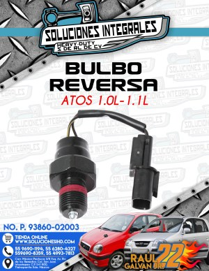 BULBO REVERSA ATOS 1.0L – 1.1L