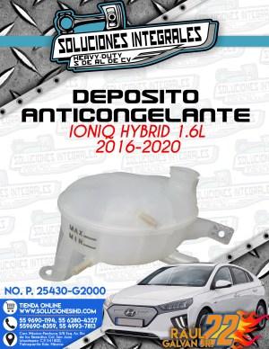 DEPOSITO ANTICONGELANTE IONIQ HYBRID 1.6L 2016-2020