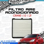 FILTRO AIRE ACONDICIONADO GRAND i10 1.2L