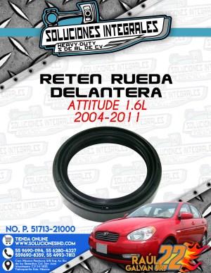 RETEN RUEDA DELANTERA ATTITUDE 1.6L 2004-2011