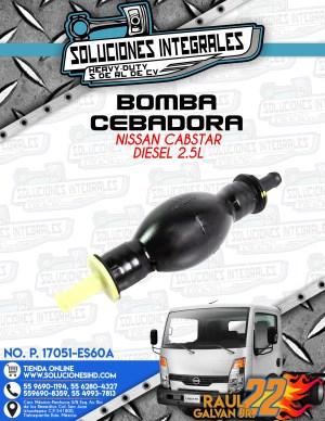 BOMBA CEBADORA  NISSAN CABSTAR 2.5L DIESEL
