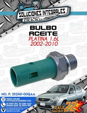 BULBO ACEITE PLATINA 1.6L 2002-2010