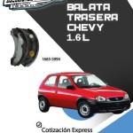 BALATA TRASERA CHEVY 1.6L 94/11