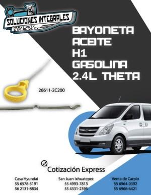 BAYONETA ACEITE H1 GAS 2.4L THETA