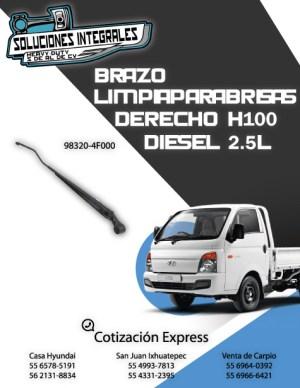 BRAZO LIMPIAPARABRISAS DERECHO H100 DIESEL 2.5L