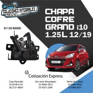 CHAPA COFRE GRAND I10 1.25L 12/19