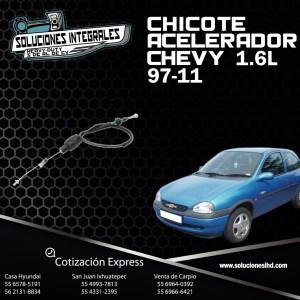 CHICOTE ACELERADOR CHEVY 1.6L 97-11