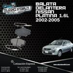 BALATA DELANTERA NISSAN PLATINA 1.6L 02/05