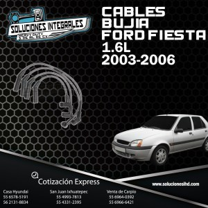 CABLES BUJIA FORD FIESTA 1.6L 03/06