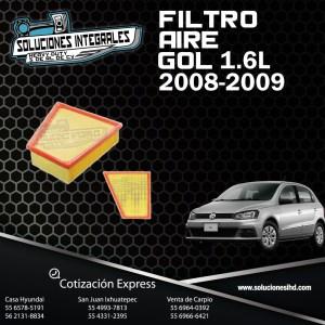 FILTRO AIRE GOL 1.6L 08/09