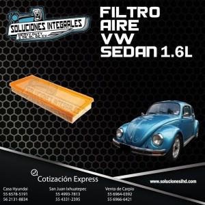 FILTRO AIRE VW SEDAN 1.6L