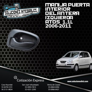 MANIJA PUERTA INTERIOR DELANTERA IZQUIERDA ATOS 1.0L 1.1L 00-12