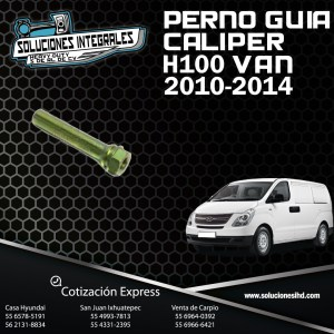 PERNO GUIA CALIPER «A» H100 VAN 10-14