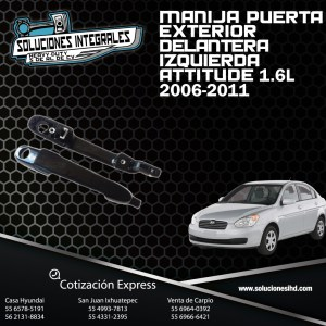 MANIJA PUERTA EXT. DEL. IZQUIERDA ATTITUDE 1.6L 06/11