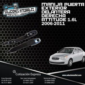 MANIJA PUERTA EXT. DEL. DERECHA ATTITUDE 1.6L 06/11