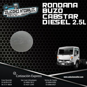 RONDANA BUZO NISSAN CABSTAR 2.5L DIESEL
