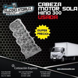 CABEZA MOTOR HINO300 SOLA USADA