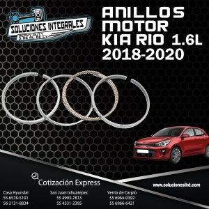 ANILLOS MOTOR KIA RIO 1.6L 18/20