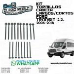 KIT TORNILLOS CABEZA LARGOS/CORTOS FORD TRANSIT 2.2L 16/14