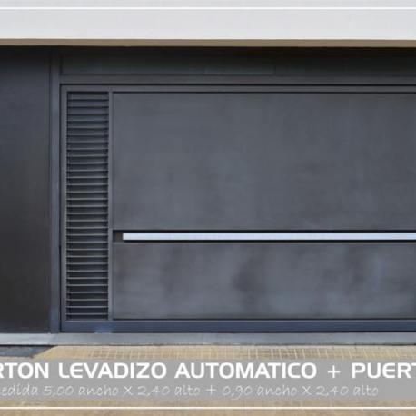 Porton levadizo automatico y puerta