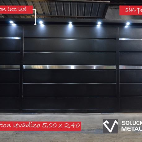 Porton levadizo con luces led
