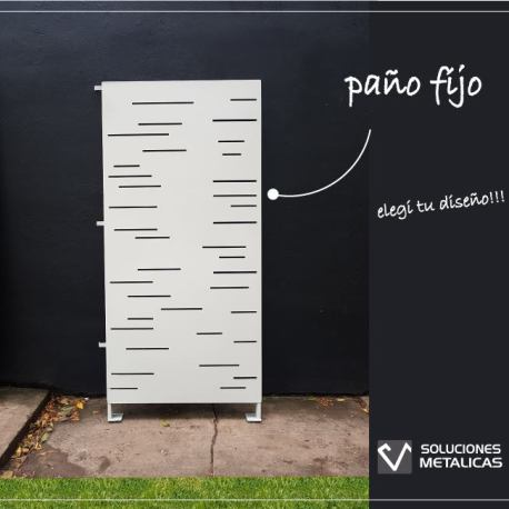 Panel divisorio co diseño blanco