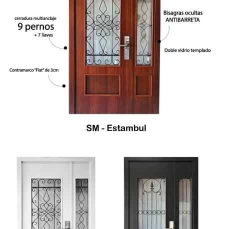 Puerta y media