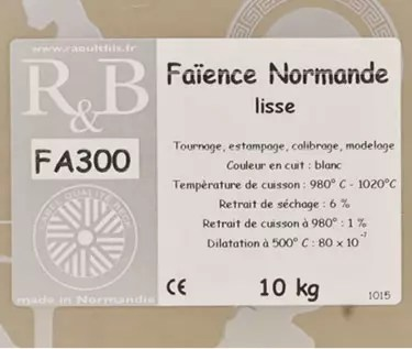 faience blanche normande lisse fa300