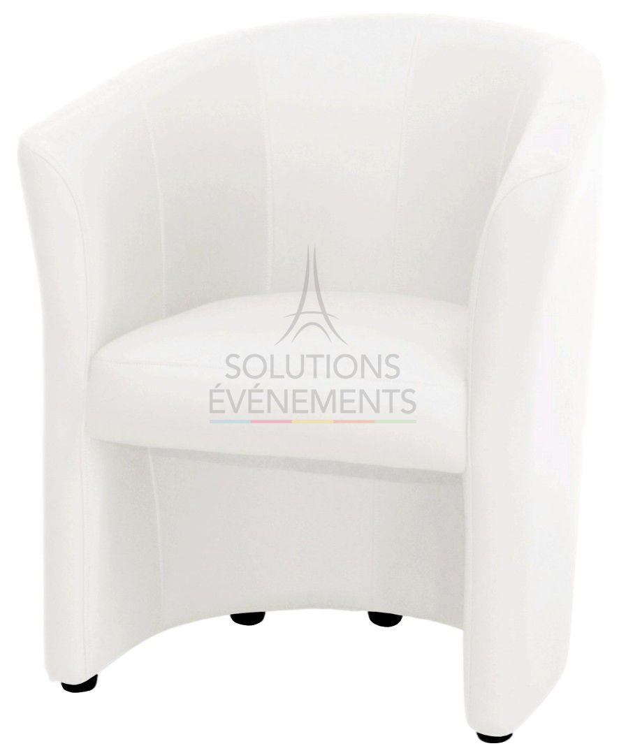 location fauteuil cabriolet blanc
