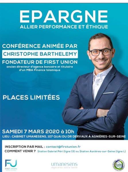 EPARGNE – Allier performance et éthique – 7 Mars 2020