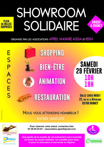 SHOWROOM Solidaire – Drancy 29 Février 2020