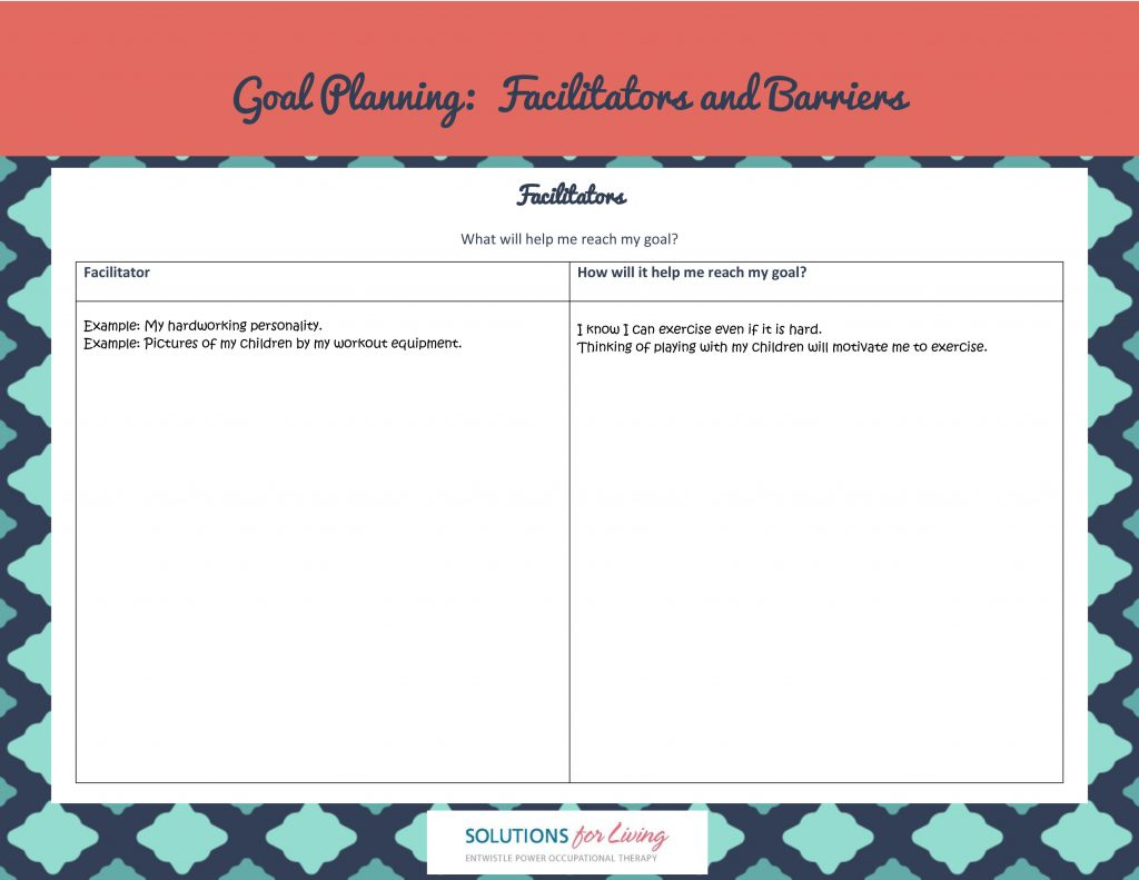 Goal Planning Barriers And Facilitators