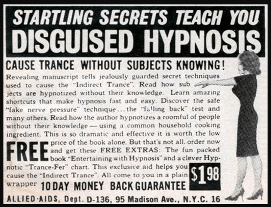 old school hypnosis ad