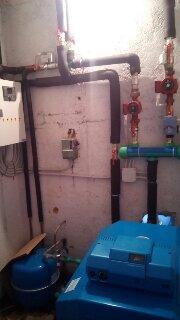 Εγκατάσταση λεβητοστασίου με λέβητα Buderus αυτοματισμό Siemens