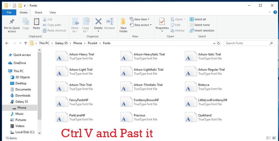 picsart font download