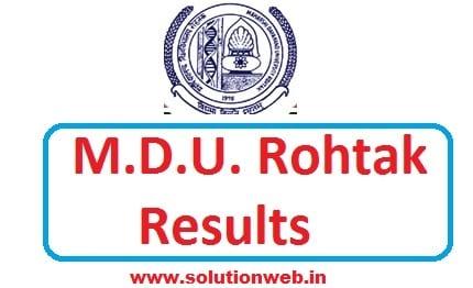 MDU B TECH RESULTS