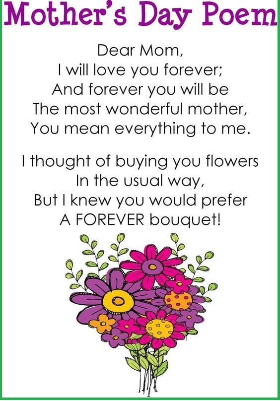 Happy Mothers Day Poem Poems For Mom On Mothers Day Solutionweb