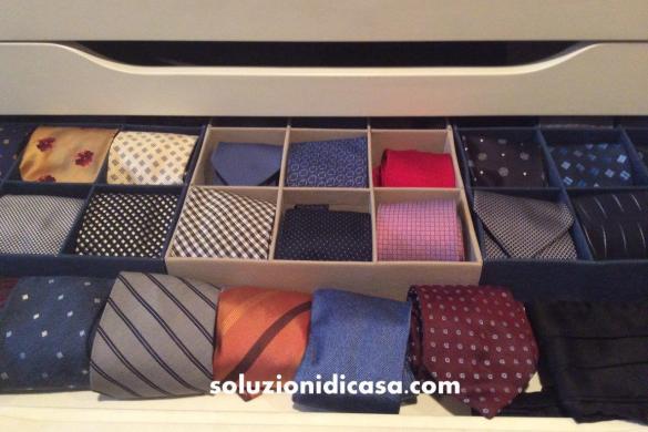 come organizzare le cravatte