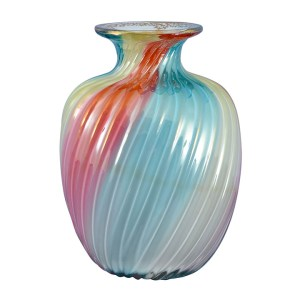 Rainbow Vase Signed Steven & Williams